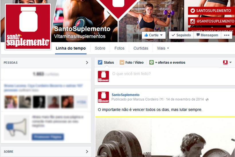 1ef4c8112 Criação de Capa para Fanpage da Santo Suplemento | WebFormas